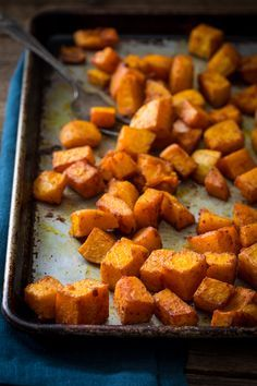 Roasted Butternut Squash with Smoked Paprika and Tumeric Recipe only 10 mintes o. - Roasted Butternut Squash with Smoked Paprika and Tumeric Recipe only 10 mintes of effort, gluten fr - Turmeric Recipes, Whole Food Recipes, Vegetarian Recipes, Cooking Recipes, Healthy Recipes, Healthy Butternut Squash Recipes, Qinuoa Recipes, Oven Roasted Butternut Squash, Rutabaga Recipes