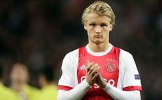 Download wallpapers Kasper Dolberg, Ajax, Holland, football, Danish football player