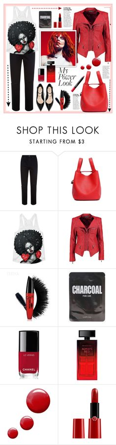 """My Power Look"" by natalyapril1976 on Polyvore featuring Mode, AG Adriano Goldschmied, Boohoo, Chanel, Elizabeth Arden, Topshop, Giorgio Armani und NARS Cosmetics"