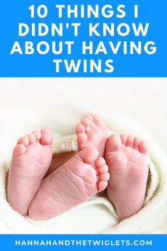 Before I had twins, there were so many tricky issues and funny things I never knew that twin parents faced! Here are 10 things I didn't know about having twins :) #hannahandthetwiglets #twins #parentingtwins #twinmum #twinlife