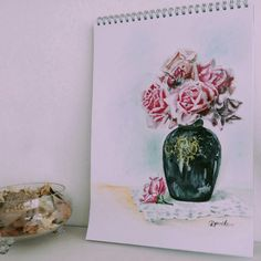 Aquarelle painting flowers by Iva Davidová