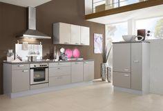 #Küche in Grau #Küchenzeile www.dyk360-kuechen.de