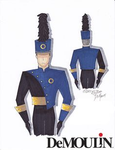 Rob Depp Designs - Made-to-Order Uniforms - Marching Band - DeMoulin Marching Band Uniforms, Journey Tour, Grand National, Other Outfits, Inspirational Videos, Las Vegas, Military, Martial, Nail Art Designs
