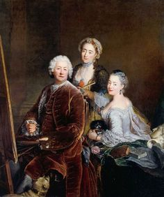 Antoine Pesne Self-Portrait with Daughters 1754