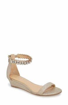 6a88b1c6d484 Jewel Badgley Mischka Ginger Wedge Sandal (Women) Cocktail Wear