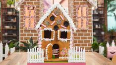 Gingerbread house recipe with handmade lollies from Anna Polyviou and family food fight Gingerbread Train, Gingerbread Dough, Jelly Crystals, Sugar Icing, Australian Homes, Gummy Bears, Home Recipes, Pinwheels, Tray Bakes