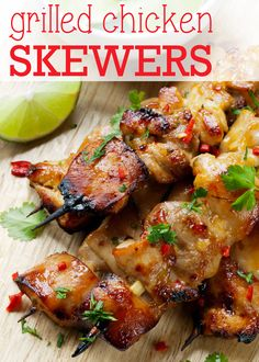 Grilled Chicken Skewers and an #organic meat #giveaway.