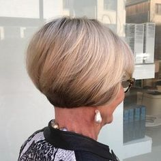 Short Stacked Bob Over 60