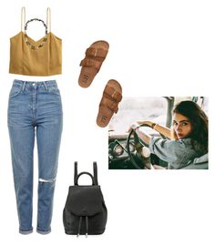 """🐒"" by lucielux ❤ liked on Polyvore featuring Topshop, rag & bone, H&M, Billabong, Tory Burch, GetTheLook, wild, l4l and trip"