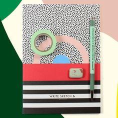 #stationary #papeterie #papierwaren #schreibwaren #maskingtape #pencil #notebook (at sous-bois)