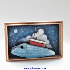 Night Boat #driftwood #boat #art #sea #christmas #gift