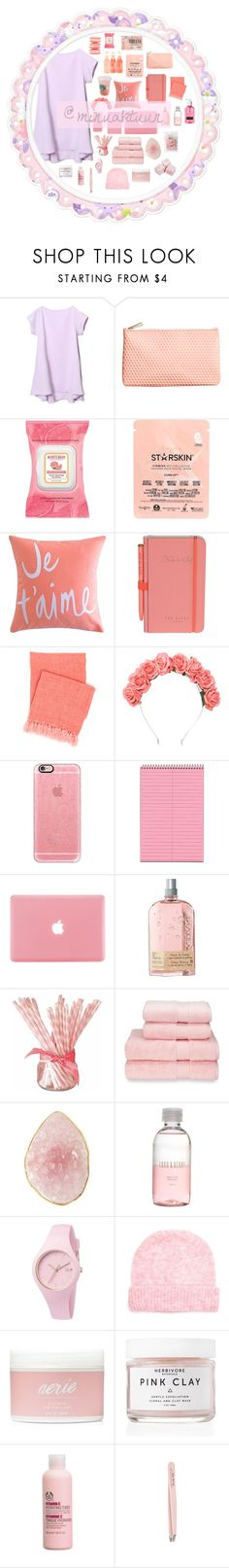 """""""🎀💕☂️🌸"""" by minuaktuun ❤ liked on Polyvore featuring H&M, John Galliano, Burt's Bees, Starskin, Brika, Wild & Wolf, Pine Cone Hill, Crown and Glory, Casetify and L'Occitane"""