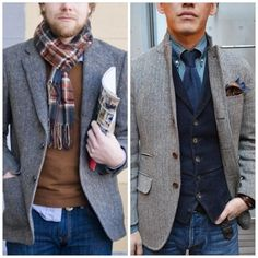 Two great looks for interview attire during the colder months. #volhubbucks #mensfashion
