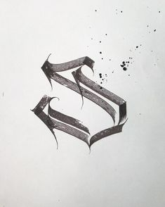 Letter S. . Today's #letterstudy in my @organicalligraphy style .