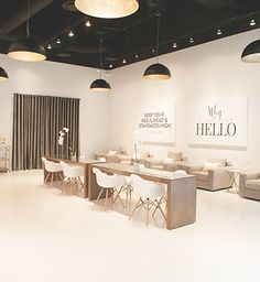 Spa Interior Design, Commercial Interior Design, Spa Design, Beauty Salon Decor, Beauty Salon Design, Spa Room Decor, Nail Salon Design, Hair Salon Interior, Loft Furniture