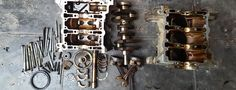 Disassembled-Car-Engine