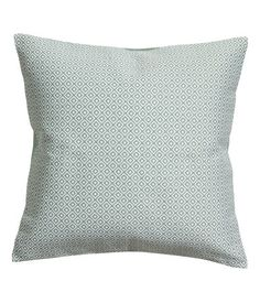 Jacquard-weave Cushion Cover | Dusky green | Home | H&M US