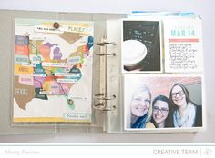 Florida vacation handbook by @marcypenner : great video + I love how she set up her pages.