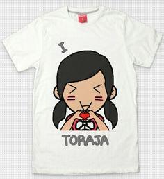 T Shirt I love Toraja 2
