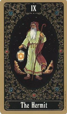 IX The Hermit - Russian Tarot of St. Petersburg