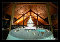 Cake in barn at Rustic Florida Wedding- Lange Farm in Dade City {Curtiss Bryant Photography}