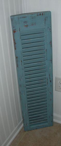 Vintage Wood Shutter  Distressed  Refurbished by AtticJoys1, $30.00
