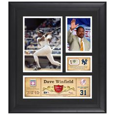 """Dave Winfield New York Yankees Fanatics Authentic Framed 15"""" x 17"""" HOF Collage with Piece of Game-Used Ball - $79.99"""