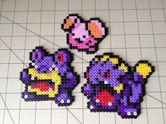Pokemon Bead Sprite Set  Whismur Family by ToughTurtles on Etsy, $7.50