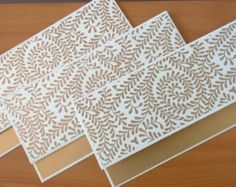 Money Envelopes - Set of 5 Gold and White / Money Holders / Wedding envelope / Cash envelopes Fancy Envelopes, Cash Envelopes, Wedding Envelopes, Paper Envelopes, Handmade Envelopes, Handmade Cards, Gift Envelope, Envelope Design, Envelope Art
