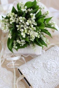 A beautiful Lily of the Valley vignette ...