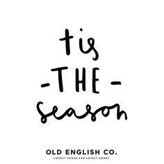 typography tis the season Christmas quote