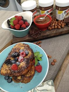 @cristinacooks makes Nutella Infused Brioche French Toast! #nutella #frenchtoast #breakfast #homeandfamily #homeandfamilytv