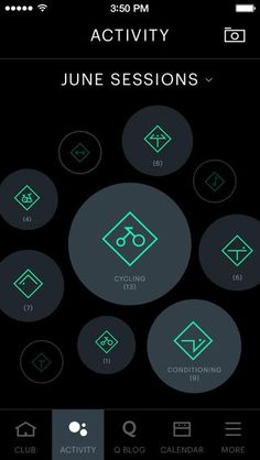 Varied sizes of the circular buttons add an element of fun to this simple UI.