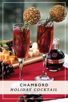 Gather the garnishes because we've got the perfect cocktail for the upcoming holiday season. If you're looking to up your entertaining game this fall, this Chambord Champagne drink is perfect for any occasion.
