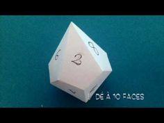 Comment faire un décaèdre Dé à 10 faces et antiprisme carré - YouTube