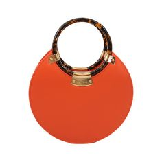 FAIRCHILD BALDWIN Evening O Round Bag ($1,325) ❤ liked on Polyvore featuring bags, handbags, purses, clutches, borse, red evening bag, tortoise shell purse, gold evening purse, round handbag and gold evening handbags