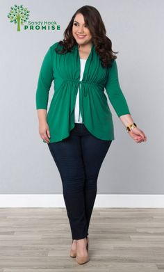 Curvalicious Clothes :: Plus Size Tops :: Sunset Stroll Bellini - Green