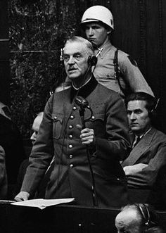 German officer and Chief of the High Command Wilhelm Keitel - at the Nuremberg War Crimes Trials. Original Publication: Picture Post - 4200 - The Greatest Trial In History - pub. Law Of War, Army Chaplain, Nuremberg Trials, The Third Reich, World War Two, Missouri, American History, New Books, Wwii