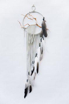Manzanita Branch Dreamcatcher - BartonHollow on Etsy https://www.etsy.com/listing/252751211/branch-dreamcatcher-snowy-owl-8-white