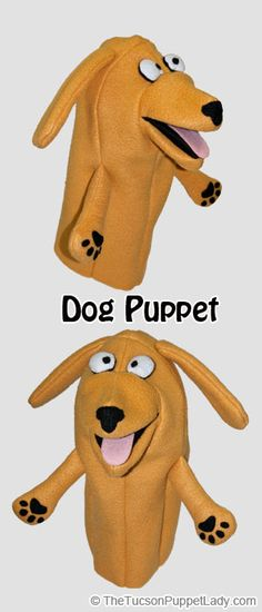 Dog hand puppet sewing pattern available from Craftsy for $5. Made from fleece, felt and foam.