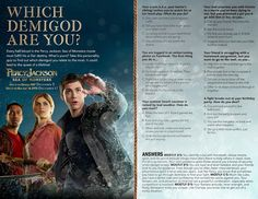 Which Demigod are you? Percy Jackson Birthday, Percy Jackson Party, Percy Jackson Fandom, Monster Activities, Fun Activities, Demigod Quiz, Sea Of Monsters, The Lightning Thief, Movies