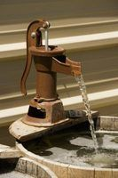 Select an old faucet to add rustic charm to a bucket fountain.