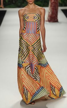 Naeem Khan | Spring'14 RTW  Once upon a time, I could wear something like this --- IF I could have afforded it.  LOVE!