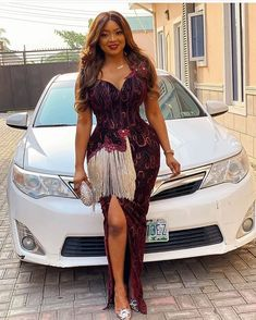 30 Aso Ebi Styles 2020 For Classy African Ladies To Try Out - photo African Wear Dresses, African Fashion Ankara, African Inspired Fashion, Latest African Fashion Dresses, African Attire, Cord Lace Styles, Lace Dress Styles, Latest African Styles, Latest Aso Ebi Styles