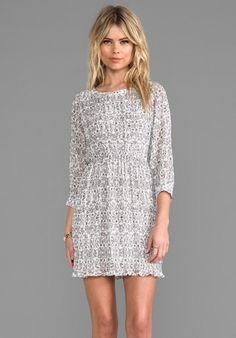 ANINE BING Floral Print Dress in Grey