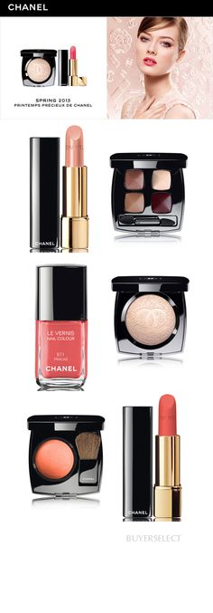 Chanel Cosmetics Spring 2013 - I'm loving these coral lipsticks. They just liberate your face from boring princess pink on the occasions when you need something lower-volume. Beauty Kit, Beauty Make Up, My Beauty, Beauty Hacks, Hair Beauty, Beauty Products, Chanel Makeup, Kiss Makeup, Hair Makeup