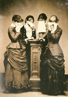 I was looking around the internet and found this site about mourning.  Could you imagine if we took a photo of the five of us mourning someone we lost, ........ we'd end up giggling.