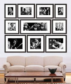 Frame photographs of your favorite musical icons to make your gallery wall sing!