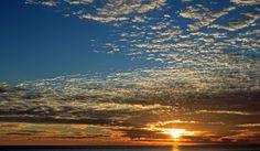 Glödande solnedgång.