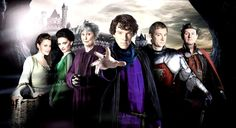 """""""In a land of crimes and a time of deduction, the safety of a great kingdom rests on the shoulders of a young consulting detective. His name… Sherlock."""" Clever mash-up with Merlin! ^^"""
